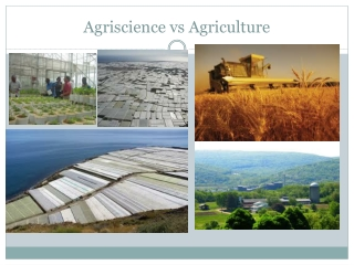 Agriscience vs  Agriculture