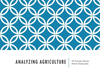Analyzing Agriculture