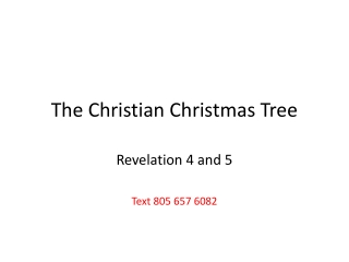 The Christian Christmas Tree