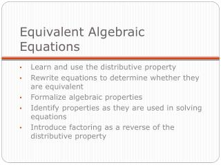 equivalent algebraic equations