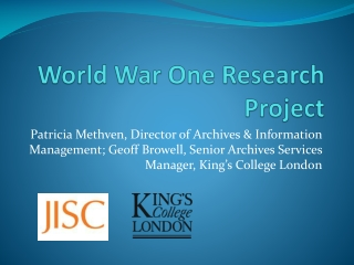 World War One Research Project
