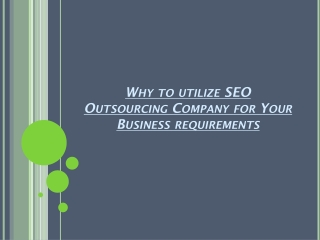 Best SEO Outsourcing Company in India