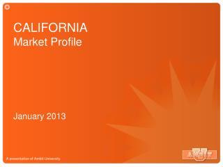 CALIFORNIA Market Profile