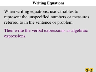 converting word problems into algebraic equations