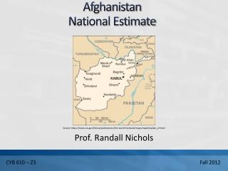Afghanistan National Estimate