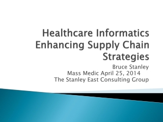 Healthcare Informatics Enhancing Supply Chain Strategies