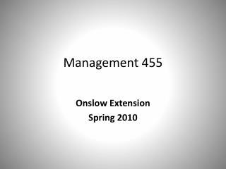 Management 455