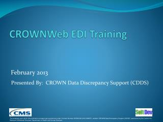 CROWNWeb EDI Training