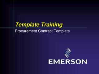 Template Training