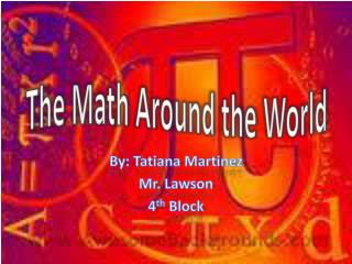 The Math Around the World