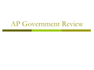 AP Government Review