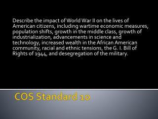 COS Standard 10