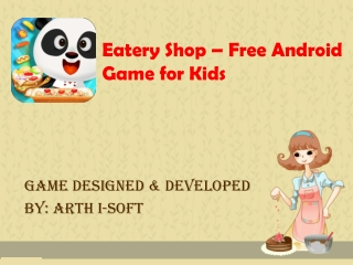 Eatery Shop - Free Game for Kids