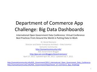 Department of Commerce App Challenge : Big Data Dashboards