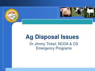 Ag Disposal Issues