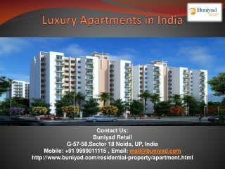 Luxury Apartments – Find  Residential options with Buniyad