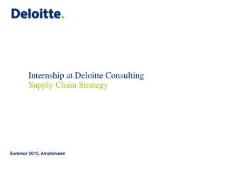 Internship at Deloitte Consulting
