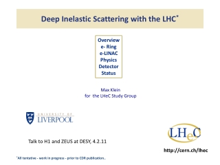 Deep Inelastic Scattering with the LHC *
