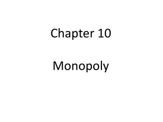 Chapter 10 Monopoly