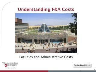 Understanding F&A Costs