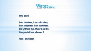 Water (H2O )