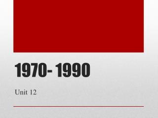 1970- 1990