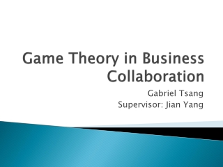 Game Theory in Business Collaboration