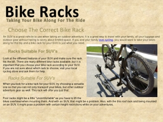Choose The Correct Bike Rack