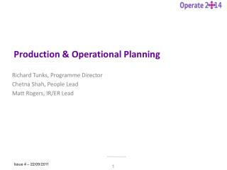Production & Operational Planning