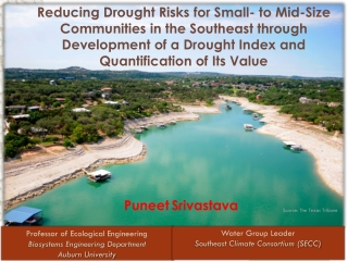 Reducing Drought Risks for Small- to Mid-Size Communities in the Southeast through Development of a Drought Index and Q