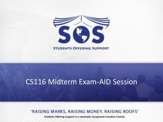 CS116 Midterm Exam-AID  Session