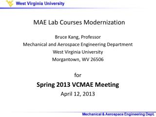 MAE Lab Courses Modernization