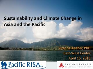 Sustainability and Climate Change in Asia and the Pacific