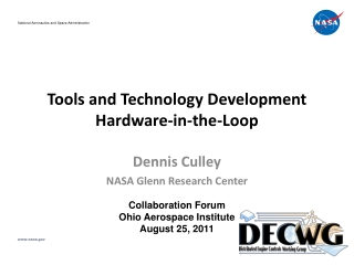 Tools and Technology Development Hardware-in-the-Loop
