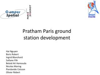 Pratham  Paris  ground  station  development