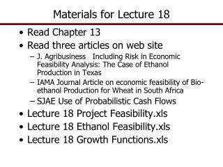 Materials for Lecture  18