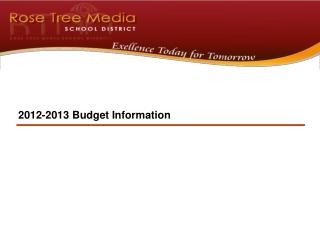 2012-2013  Budget  Information