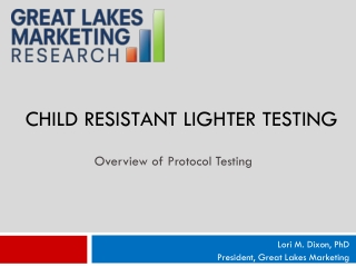 Child resistant Lighter testing