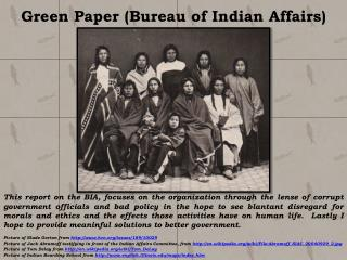 Green Paper (Bureau of Indian Affairs)