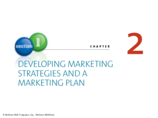 DEVELOPING MARKETING STRATEGIES AND A MARKETING PLAN