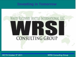 Who is WRSI Consulting Group
