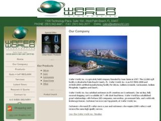 Wafer World History TIME-LINE -1996-Wafer World Inc. was founded as a tightly held private company by Sean Quinn.