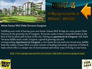 Emaar MGF Palm Terraces Gurgao