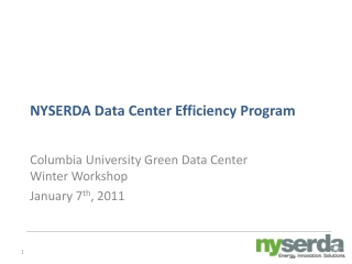 NYSERDA Data Center Efficiency Program