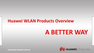 Huawei  WLAN  Products Overview