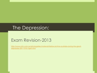The Depression: