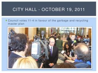 CITY HALL - October 19, 2011