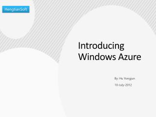 I n troducing Windows Azure