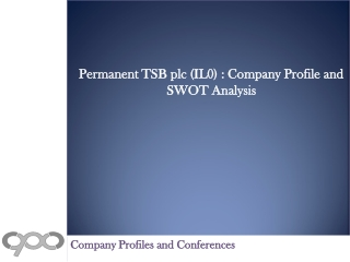 Permanent TSB plc (IL0) : Company Profile and SWOT Analysis