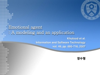 Emotional agent  : A modeling and an application
